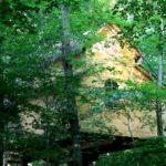 cabane escarcelle dans les feuilles