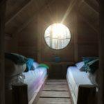 Couchage compartiment du haut dans cabane Escarcelle